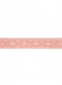 ruban dentelle 2Mx2.5cm pêche coton