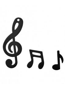 confettis noir note de musique 20grs