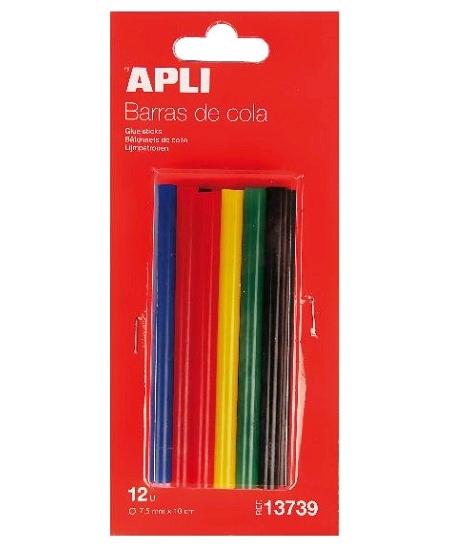 12 bâtons de colle couleurs D7.5mm