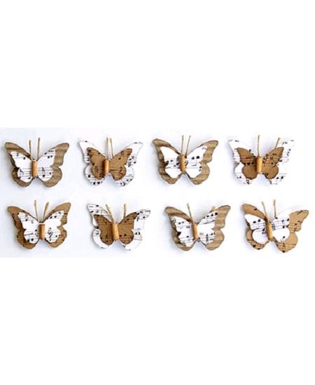 papillonsx8 naturel  blanc