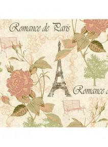 serviettesx4/33cmx33cm romance de Paris