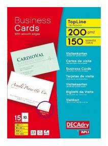150 cartes de visites blanches