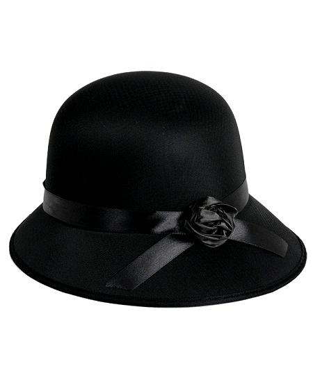 chapeau charleston lady noir