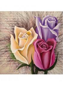 image 3D/30x30cm rosesx3