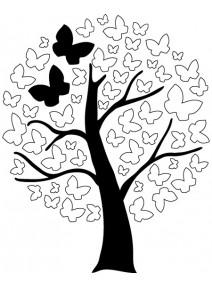 tampon arbre aux papillons F