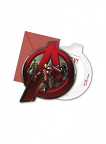 cartes d`invitationx6 Avengers