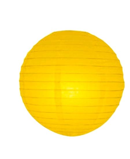 boule papier japonaise D30cm jaune