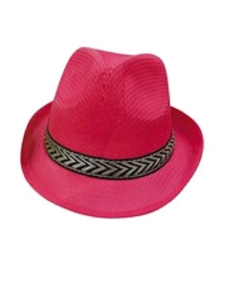 chapeau borsalino framboise