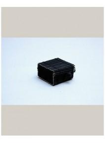 boîte à dragées noire en bambou 6x6cm/h3cm