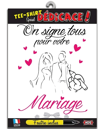 tee-shirt mariage on signe