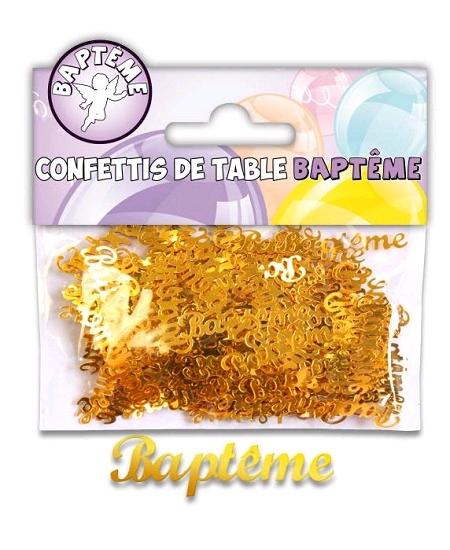 confettis baptême or