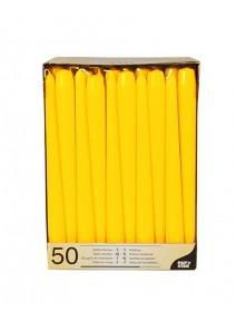 bougiesx5/25cm jaune vif chandelier