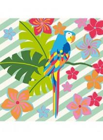 feuille adhésive perroquet