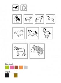 kit tamponsx11 chevaux + 1 encreur
