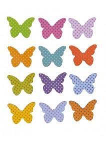 papillonsx12 en bois adhésifs