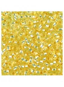 perles de rocailles jaune clair D2.6mm