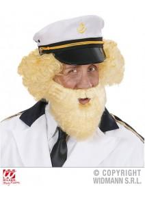 barbe avec moustache blonde
