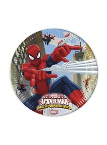 assiettesx8/D22.5cm spiderman web warrio