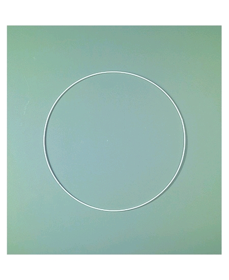 anneau D8cm blanc en époxy