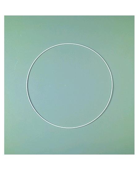 anneau D25cm blanc en époxy