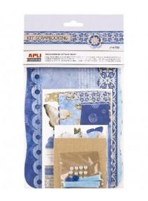 kit scrapbooking bleu