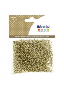 perles dorées D3mm/20grs plastique