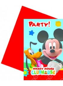 cartes d`invitationx6 Mickey
