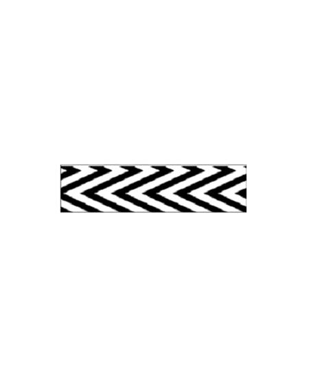 ruban 2M70x9.5mm noir blanc