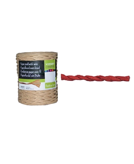 paper cord 50M/1-2mm rouge