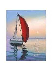 image 3D/24x30cm bateau solitaire