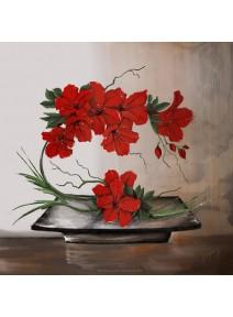 image 3D/30x30cm composition florale