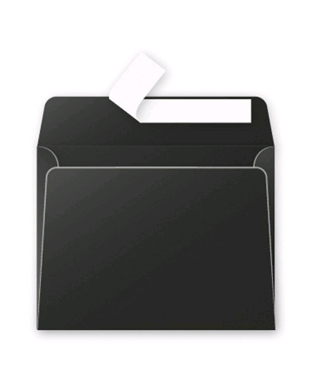 enveloppes noiresx20/9x14cm