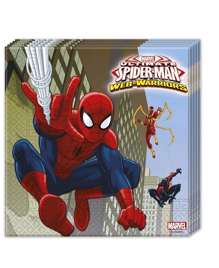serviettesx20/33cmx33cm spiderman web