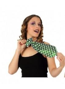 cravate verte maxi à pois blanc