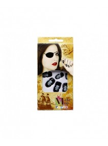 ongles noirex12+colle pirate