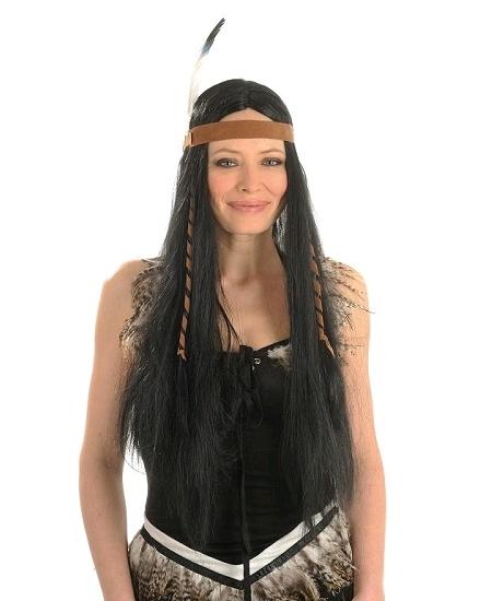 perruque indienne noire cheyenne