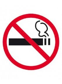 étiquette interdit de fumer pour vitre
