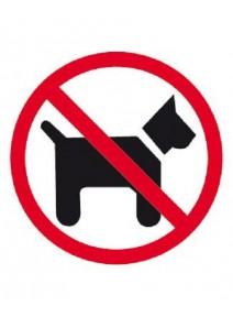 étiquette interdit aux chien pour vitre