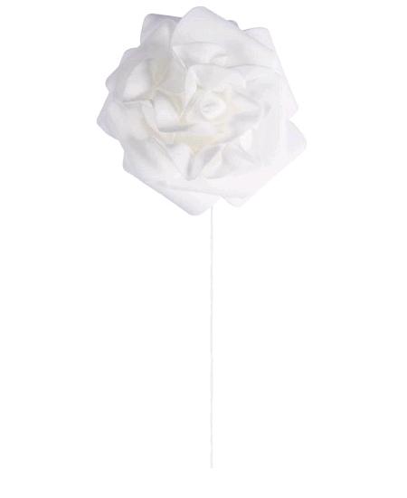 rosesx4 blanche sur tige D8cm