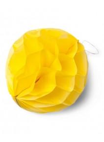 boulesx8/D10cm jaune vif alvéolées