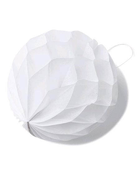 boulesx8/D10cm blanche alvéolées