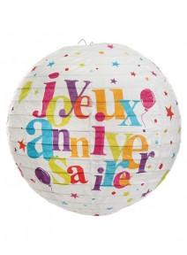 lanternesx2/D20cm joyeux anniversaire