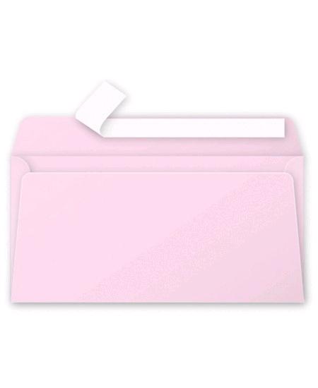 enveloppesx20/11x22cm rose dragée pollen