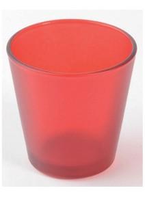 bougeoir verre rouge
