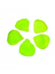 120 pétales de scène vert pomme polyeste