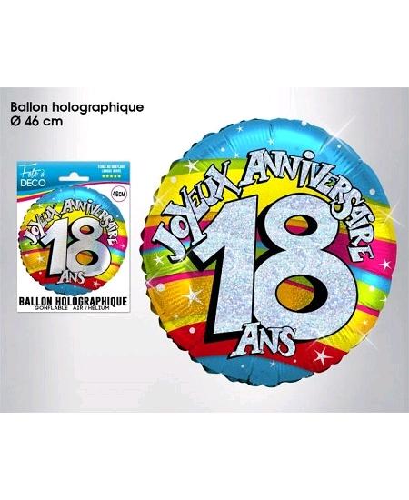 ballon 18ANS joyeux anniversaire