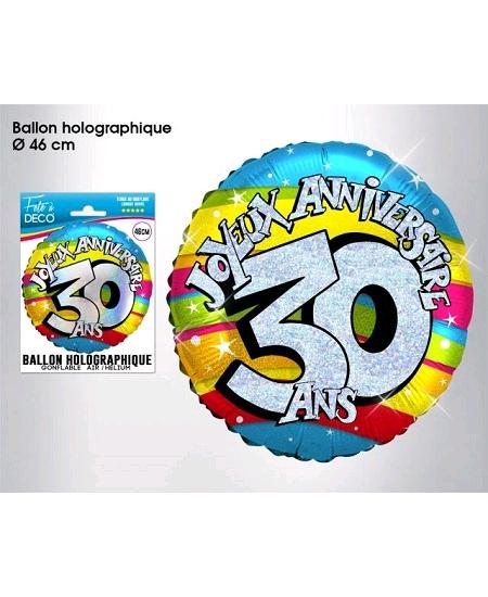 ballon 30ANS joyeux anniversaire