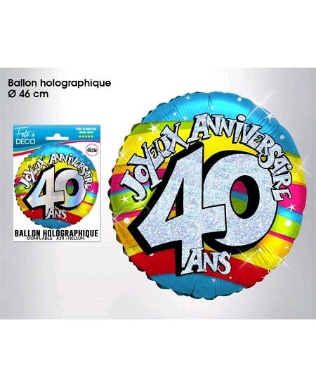 ballon 40ANS joyeux anniversaire