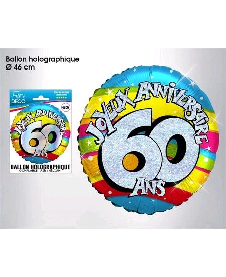 ballon 60ANS joyeux anniversaire