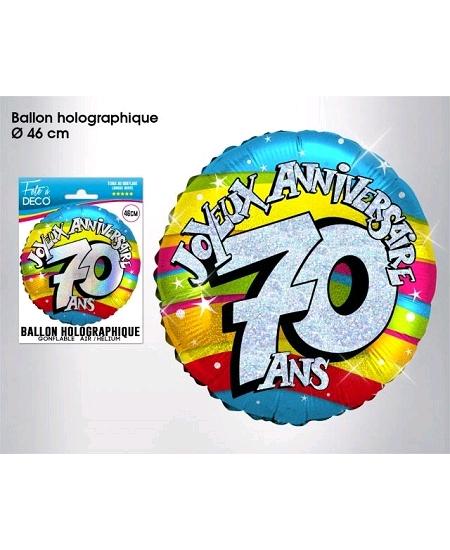 ballon 70ANS joyeux anniversaire